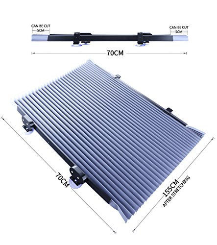 YLG Voiture Couverture De Pare-Brise Pare Soleil Pare-Brise Avant pour Voiture Anti UV Repliable, Argent,155 * 70Cm