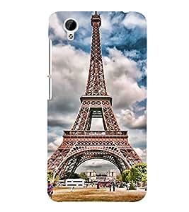 Eiffel Tower 3D Hard Polycarbonate Designer Back Case Cover for vivo Y31 :: VivoY31L