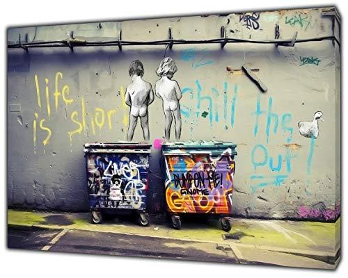 BANKSY la vie est courte enfants Art Reproduction sur toile...