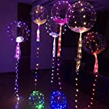 Vovotrade 20inch Ballons, Leucht Luftballon Weiss Zuhause Dekoration Zum Party Hochzeit Weihnachten Festival Leuchtende geführte Ballon Runde Blasen Dekorations Partei Hochzeit (Mehrfarbig, 20inch)