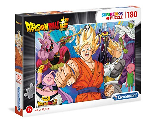 Clementoni- Supercolor Puzzle-Dragon Ball-180 pièces, 29755, Multicolore