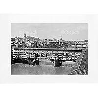 Archivio Foto Locchi Firenze – Stampa Fine Art su passepartout 70x50cm. – Immagine del Ponte Vecchio a Firenze negli anni '30