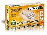 Reflexx R40, Handschuhe aus Latex mit Staub, M, Bianco, 100