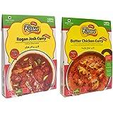 [Sponsored]DESI RASOI Combo - Rogan Josh Curry + Butter Chicken Curry (Pack Of 2) 300g Each