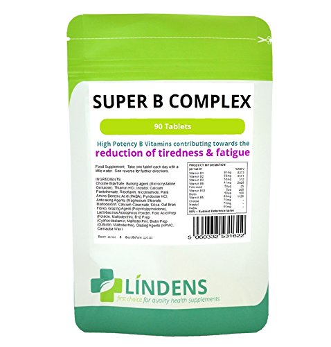Super-Vitamin B-Komplex w / Probiotische 3-PACK 270 Tabletten B1 B2 B3 B5 B6 B9 B12