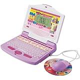 Barbie Schulcomputer Lerncomputer f?r M?dchen, 50 Spiele, 1-2 Spielerinnen, ab 5 Jahre, Laptop, pink