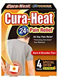Cura Heat Back & Shoulder Pain - 4-Pack