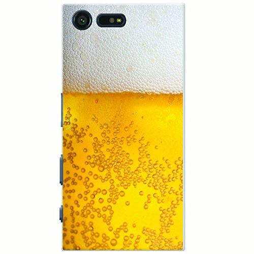 Nahaufnahme schaumiges Bier weiße Krone Hartschalenhülle Telefonhülle zum Aufstecken für Sony Xperia X Compact