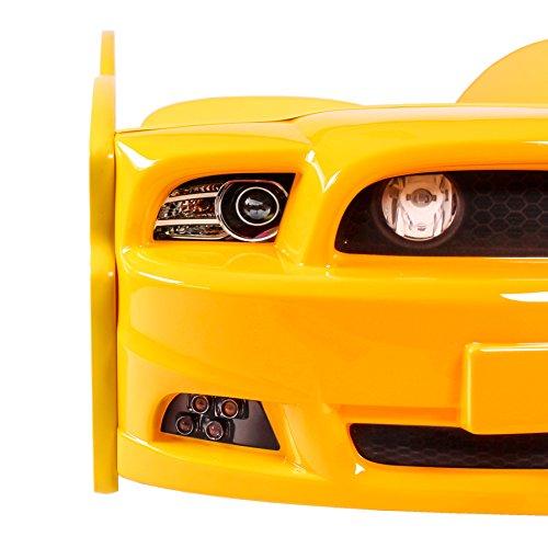 KAGU Autobett Kinderbett Jungendbett Juniorbett im Design eines echten Autos auch mit LED-Beleuchtung erhältlich. Praktisches und bequemes Bett für Ihr Kind. - 5