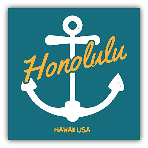 Honolulu-Hawaii-USA-Label-Pegatina-de-Vinilo-Para-la-Decoracion-del-Vehiculo-12-X-12-cm