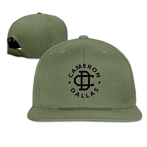 thna-cameron-dallas-logo-verstellbar-fashion-baseball-hat-gr-one-size-forestgreen