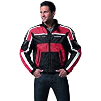 Racer GP Team Chaqueta Textil para Motorista, Rojo/Negro, 2XL