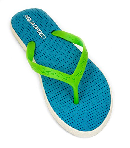 AQUA-SPEED® LOMA Donne Flip Flops | Adulti | Calzature da Spiaggia | Sandali | Pool Pattini | 36-41 Blu / verde
