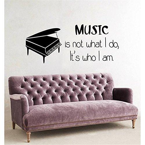 Wandaufkleber Kinderzimmer Wandtattoo Wohnzimmer wandaufkleber 3d Wandaufkleber Schlafzimmer Musik ist nicht das, was ich tue. Es ist, wer ich bin. Inspirierende Musik