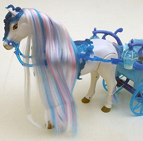 Brigamo 546 – Schneekönigin Kutsche mit Beleuchtung UND Elektrischem Pferd,voll beweglich, inkl. Sound - 4