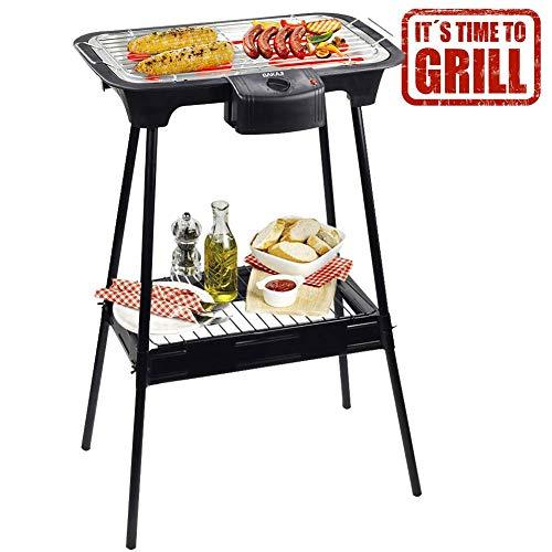BAKAJI Barbecue Senza Fumo da Tavolo o da Terra Griglia in Acciaio Inossidabile BBQ Grill Grigliate...