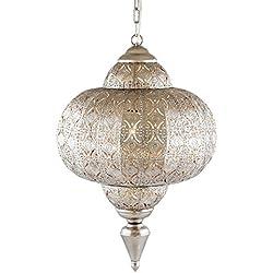 Lámpara de techo Marruecos Pajoma, metal, diámetro 25cm 13170