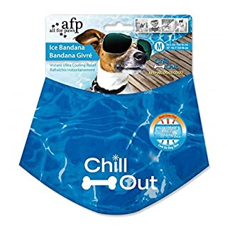 Chill Out – Always Be Cool Ice Cooling Bandana Dog Neck Scarf – High Tech S-L – Cooling without Refrigerator 51V4O1pqqaL