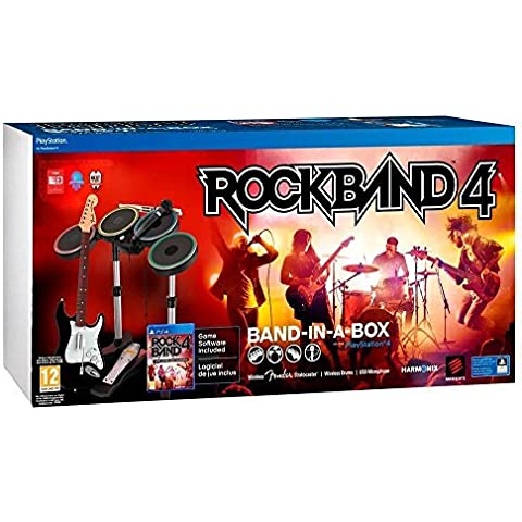 MAD CATZ RB491267ES02/01/1 Bundle: Rock Band 4 Band-in-a-Box Software for PlayStation 4 - ( > ) by Mad Catz