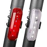 2Pack Luce posteriore per bicicletta, casco USB ricaricabile Fanale posteriore, luce per bici di sicurezza Adatto a qualsiasi mountain bike e bici da strada, facile da installare