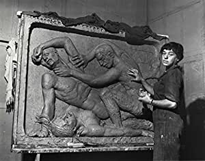 POSTER Helene Sardeau American sculptor 1899 1969 at work studio Helene Sardeau often conveyed contemplation serenity humanism work first major commission Slave 1933 was executed a sculpture garden Fairmount Park Philadelphia She sculpted under pseudonym Sardeau even after she married fellow painter George Biddle er Peter A Juley & Son Medium Black white ic print 8 10 in