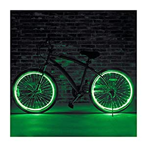 51V4P0RrT7L. SS300 El Filo Bicicletta Razze, Cool Neon Wire Luce per Bicicletta, Luce Verde a Raggi, Completamente Impermeabile, Facile da installare, El Wire Kit per Bici