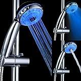 3 del color del mando sensor de temperatura llev la cabeza de ducha