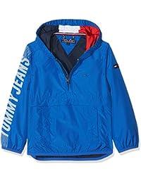 Tommy Hilfiger S Hooded Pop Over Jacket, Chaqueta para Niños