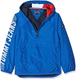 Tommy Hilfiger Jungen Jacke Boys Hooded Pop Over Jacket, Blau (Nautical Blue 493), 152 (Herstellergröße: 12)