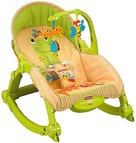 Image of NEW! Fisher's Price Newborn-To-Toddler Portable Low-profile Frame Rocker (Lizards) by Unbranded*
