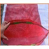 20 x red tejida sacos verduras leña registros lógicos malla 50 x 65 cm 30 kg
