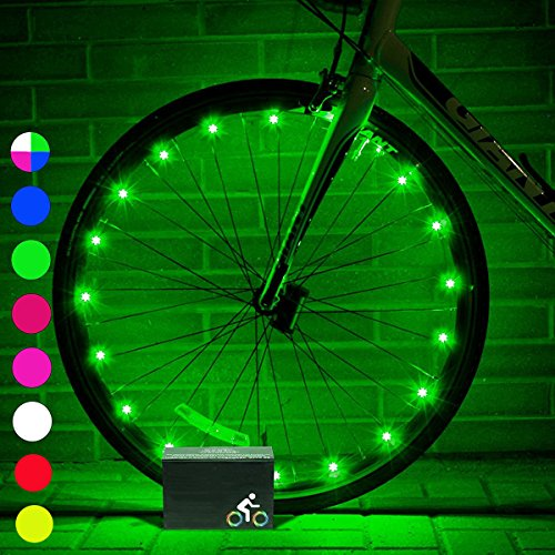 DMbaby Unisex-Youth 666389184672 Ruote Bici Light-Best Regali, Verde