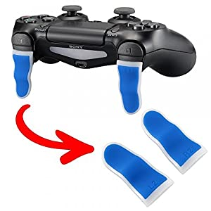 eXtremeRate 1 Paar PS4 Trigger Tasten L2 + R2 Buttons Schultertasten Ersatzteile Zubehör Set für Playstation 4 PS4 JDM…