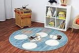 Kinderteppich Happy Friends Pirat Blau rund - Spielteppich versandkostenfrei schadstoffgeprüft