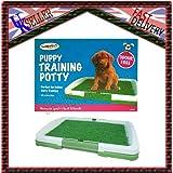 Interior limpiar Puppy. Perros, Gatos Pet Potty Pad para inodoro alfombra de entrenamiento Trainer Bandeja