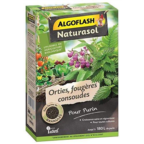 ALGOFLASH NATURASOL ABIORTIN Orties, fougères, consoudes pour purin Vert 15 x 6 x 20 cm 300 g