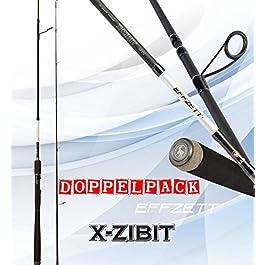 2 pc. DAM EFFZETT X-Zibit Spin (Double Pack) – Canne à Lancer + K-Don leurre Plastique Souple Gratuite
