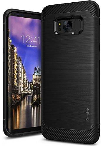 Funda Samsung Galaxy S8 2017, Ringke [Onyx] [Gran Resistencia] Carcasa Protectora de TPU Duradera, Antideslizante y Flexible - Negro Black
