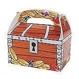 Elfen und Zwerge 6 x Piraten Schatztruhen Schatzkisten Tüten Mitgebsel Geschenketüten Kindergeburtstag GiveAway Schatz Schnitzeljagd