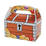 6 x Piraten Schatztruhen Schatzkisten Tüten Mitgebsel Geschenketüten Kindergeburtstag GiveAway Schatz Schnitzeljagd