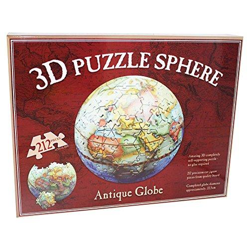 3d Puzzle Sphere–Globo terráqueo antiguo, mesa por TheWorks