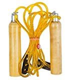 #7: GOLD FITNESS SPEED JUMP WOODEN HANDLE ADJUSTABLE SKIPPING ROPE