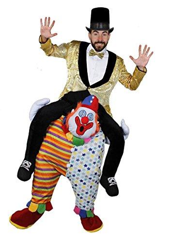 Gewinnen Kostüme 2017 Halloween (ZIKUS CLOWN DER SEINEN DIREKTOR TRÄGT=PICK ME UP (TRAGE MICH)(HEBE MICH HOCH)KOSTÜME DER SONDERKLASSE VON = = VON ILOVEFANCYDRESS®= ALLE UNTERTEILE SIND DER CLOWN IN EINER EINHEITSGRÖßE=OBERTEILE SIND EIN GOLDENER)