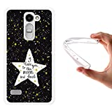 WoowCase LG Ray Hülle, Handyhülle Silikon für [ LG Ray ] Star Satz - I Love You to The Moon and Back Handytasche Handy Cover Case Schutzhülle Flexible TPU - Transparent
