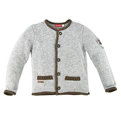 BONDI Strickjanker, Grey-Melange 152 Lederhosen Rebel Artikel-Nr.29933