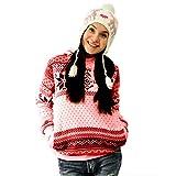 Damen Kapuzen Pullover Tops Frauen Weihnachten Snowflake Hoodie Sweatshirt Pullover Pullover