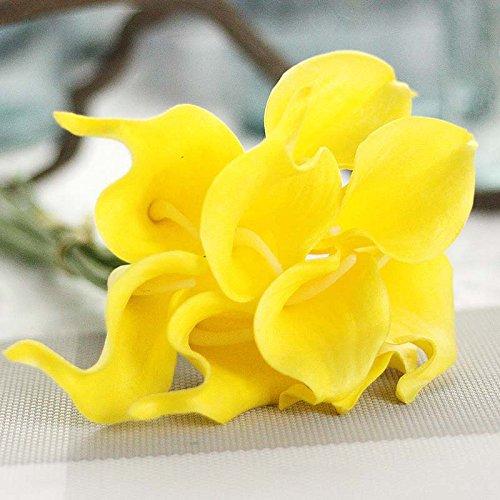 Alexsix 10 stücke Gefälschte Blumen Künstliche Calla Lily Simulation Bouquet DIY Hochzeit Dekoration