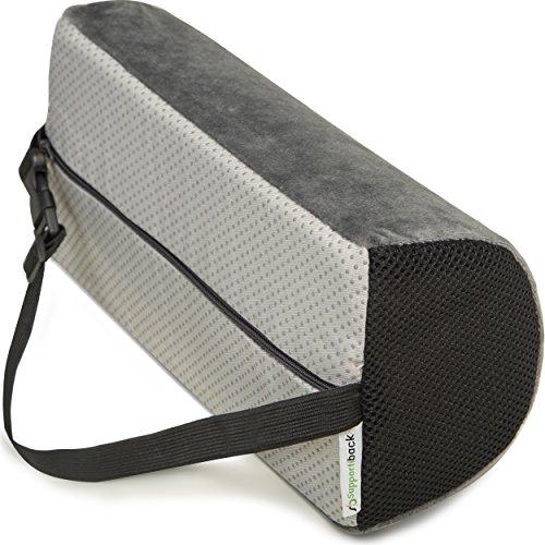 Supportiback® Orthopädisches Lendenkissen und Lordosekissen – ergonomisches Rückenkissen aus Visco-Memory-Schaum zur Entlastung des oberen und unteren Rückenbereichs – für Zuhause, Büro und unterwegs