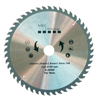 NBS Werkzeuge HM Hartmetall Kreissägeblatt 250 x 30 x 48 Zähne