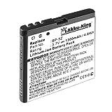Akku-King Akku für Nokia 700, Zeta N700 - ersetzt BP-5Z Li-Ion - 1300mAh
